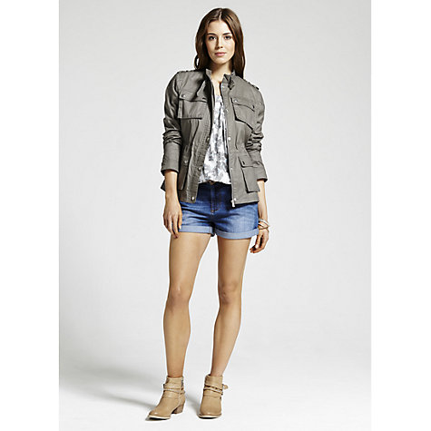 Buy Mint Velvet Waxed Biker Jacket Online at johnlewis.com