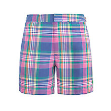 Buy Polo Ralph Lauren Swim Shorts, Blue Plaid Online at johnlewis.com