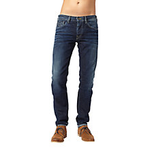 Buy Pepe Jeans Colville Straight Jeans, Dry Cured Dark Online at johnlewis.com