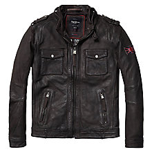 Buy Pepe Jeans Theo Leather Jacket Online at johnlewis.com
