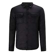 Buy Armani Jeans Quilted Overshirt, Black Online at johnlewis.com