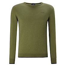 Buy Armani Jeans Cotton & Wool Blend Jumper, Olive Online at johnlewis.com