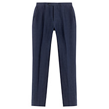 Buy Jigsaw Micro Check Linen Trousers, Navy Online at johnlewis.com