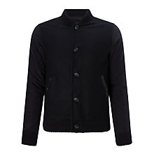 Buy Armani Jeans Wool Mix Hybrid Baseball Jacket, Navy Online at johnlewis.com