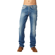 Buy Pepe Jeans Kingston Straight Jeans, Dry Cured Dark Online at johnlewis.com