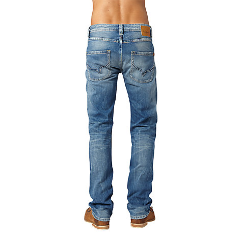 Buy Pepe Jeans Kingston Straight Leg Jeans, Dry Cured Dark Online at johnlewis.com