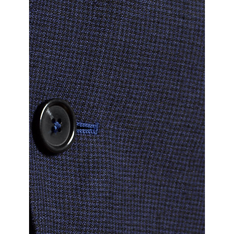 Buy Jigsaw Micro Check Linen Jacket, Navy Online at johnlewis.com