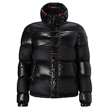 Buy Armani Jeans Quilted Duffel Coat, Black Online at johnlewis.com