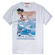 Buy Pepe Jeans Beverly Graphic Print T-Shirt, Clean Jersey Online at johnlewis.com