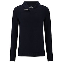 Buy Armani Jeans Wool Rich Shawl Neck Jumper, Navy Online at johnlewis.com