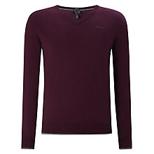 Buy Armani Jeans Cotton & Wool Blend Jumper, Purple Online at johnlewis.com