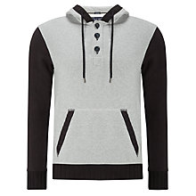 Buy Armani Jeans Heavy Jersey, Grey/Black Online at johnlewis.com