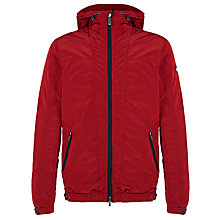 Buy Armani Jeans Hooded Blouson, Red Online at johnlewis.com