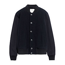 Buy Jigsaw Jersey Twill Bomber Jacket, Ink Online at johnlewis.com