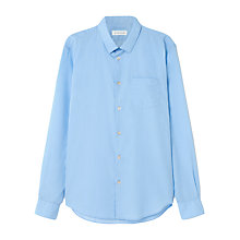 Buy Jigsaw Slim Fit Small Collar Shirt, Sky Blue Online at johnlewis.com