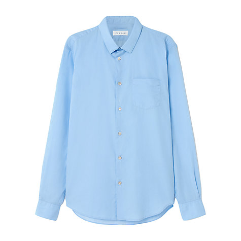 Buy Jigsaw Slim Fit Small Collar Long Sleeve Shirt, Sky Blue Online at johnlewis.com