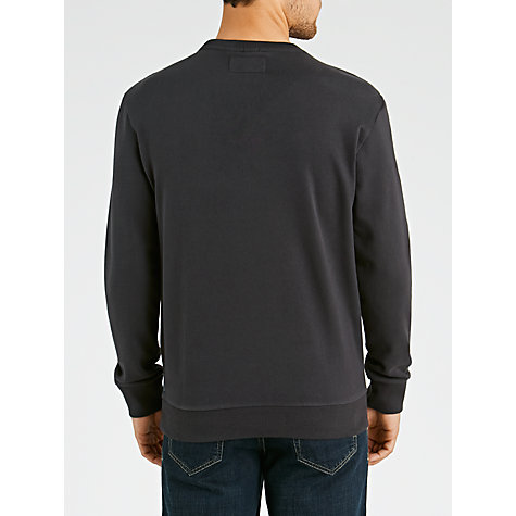 Buy Armani Jeans Jersey Crew Neck Sweatshirt, Blue Online at johnlewis.com