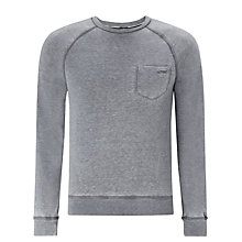 Buy Armani Jeans Melange Cotton Sweatshirt, Grey Online at johnlewis.com