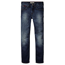 Buy Tommy Hilfiger Boys' Clyde Slim Fit Jeans, Blue Online at johnlewis.com