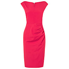 Buy L.K. Bennett Fitted Tancy Dress, Raspberry Pink Online at johnlewis.com