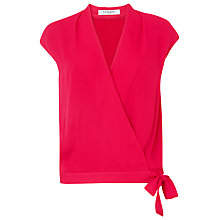 Buy L.K. Bennett Draped Fisher Top, Pink Raspberry Online at johnlewis.com