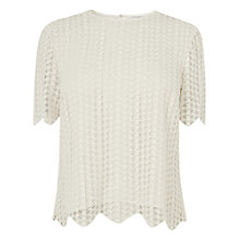 Buy L.K. Bennett Lace Annai Top, Cream Online at johnlewis.com