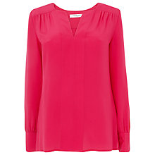Buy L.K. Bennett Silk Troy Top, Pink Raspberry Online at johnlewis.com