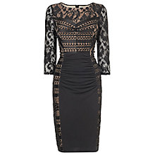 Buy Phase Eight Cara Lace Dress, Black/Nude Online at johnlewis.com