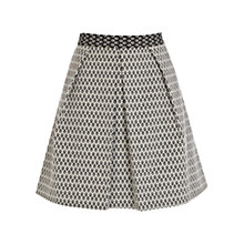 Buy Coast Bethy Geometric Print Skirt, Black/White Online at johnlewis.com