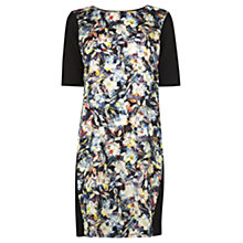 Buy Warehouse Graphic Floral Dress, Black Online at johnlewis.com