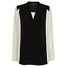 Buy Coast Cadiz Monochrome Blouse, Black Online at johnlewis.com
