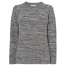 Buy L.K. Bennett Knitted Rend Mouline Top, Asphalt Online at johnlewis.com