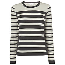 Buy L.K. Bennett Striped Akita Top, Light Cream Online at johnlewis.com