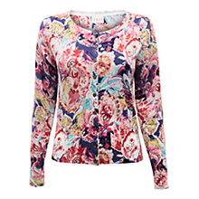 Buy East Blythe Floral Print Cardigan, Multi Online at johnlewis.com