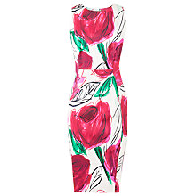 Buy L.K. Bennett Rose Print Laconia Dress, Pink Rose Online at johnlewis.com