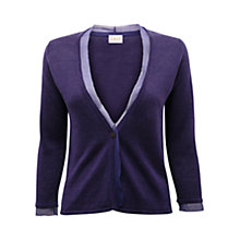 Buy East Silk Trim Cardigan, Atlantic Blue Online at johnlewis.com