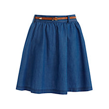 Buy Oasis Lillie Skater Skirt, Denim Online at johnlewis.com