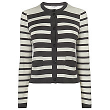 Buy L.K. Bennett Striped Akita Cardigan, Light Cream Online at johnlewis.com