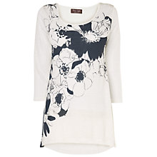 Buy Phase Eight Agnella Placement Top, White/Grey Online at johnlewis.com