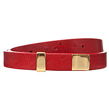 Buy COLLECTION by John Lewis Leather Faux Ostrich Belt, Red Online at johnlewis.com