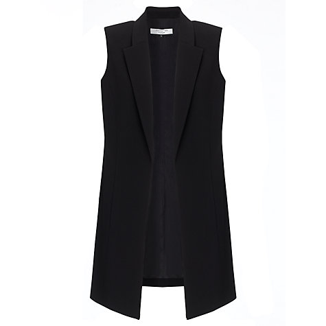 Buy COLLECTION by John Lewis Sleeveless Longline Jacket, Black Online at johnlewis.com