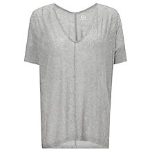 Buy Kin by John Lewis V-Neck Oversized T-Shirt, Grey Marl Online at johnlewis.com