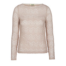 Buy Somerset by Alice Temperley Deco Lace Tee, Cream Online at johnlewis.com