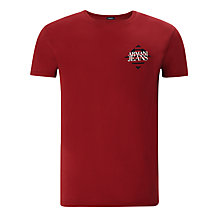 Buy Armani Jeans Diamond Logo T-Shirt, Red Online at johnlewis.com