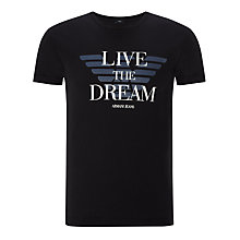Buy Armani Jeans Live The Dream T-Shirt Online at johnlewis.com