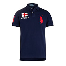 Buy Polo Ralph Lauren England Country Custom Fit Polo Shirt, Navy Online at johnlewis.com