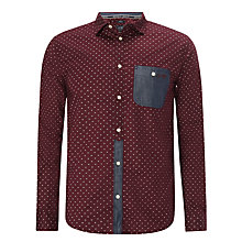 Buy Armani Jeans Mini Geo Long Sleeve Shirt, Bordeaux Online at johnlewis.com