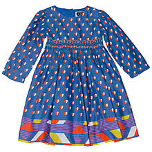 Buy Question Everything Girls Natalia Hearts Dress, Blue Online at johnlewis.com