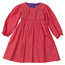 Buy Question Everything Girls' Iggy Floral Hand Smocked Dress, Red Online at johnlewis.com