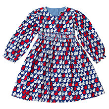Buy Question Everything Girls' Bunny Rabbit Hand Smocked Dress, Blue/Red Online at johnlewis.com